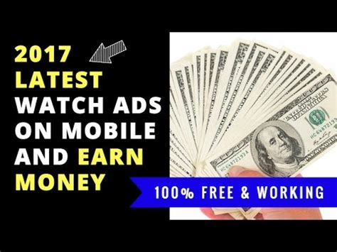 Make Money Online Watching Ads - how to make money fast online from mobile 2017 free 100 watch ads earn money weone