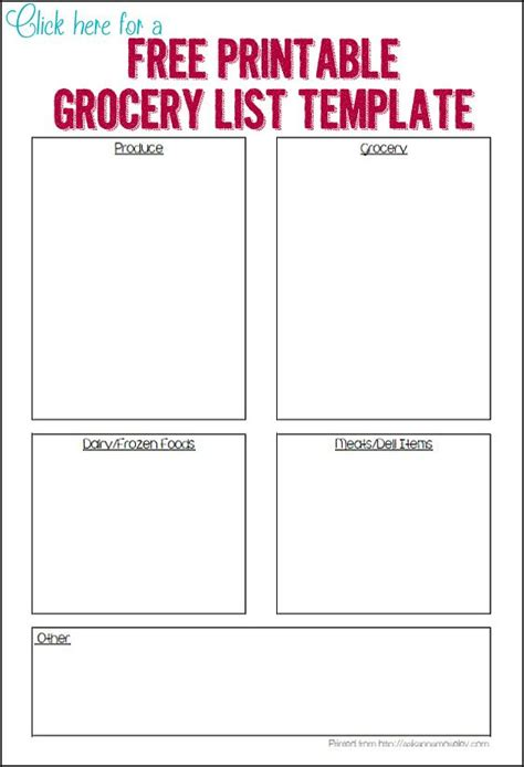 printable grocery list for preschoolers 4420 best images about top organizing bloggers on