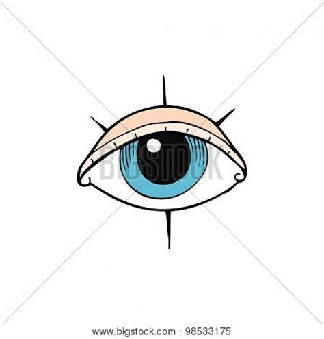 cartoon eye tattoo cartoon tattoo eye symbol image photo bigstock