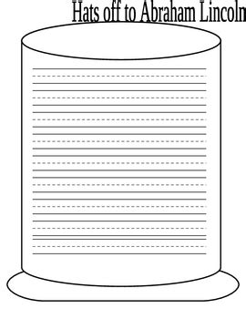 abraham lincoln printable writing paper 1st grade abraham lincoln writing paper by carissa bass tpt