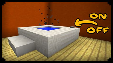 how to make a bathtub minecraft how to make a working hot tub improved version