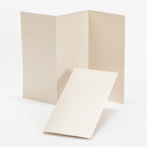 impressions gold shimmer tri fold program 4 x 8