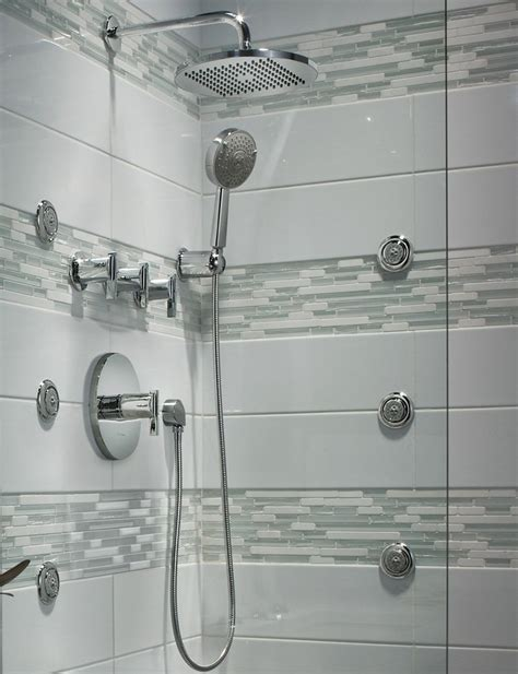 Bathroom Shower Heads Handheld American Standard Modern Easy Clean Showerhead And The Tile Pattern Bathroom