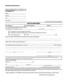 sample quick claim deed form 8 free documents in pdf