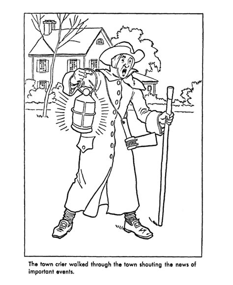 early coloring pages early american trades coloring page towncrier teaching
