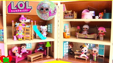 lol surprise doll house bunk beds  bedrooms youtube