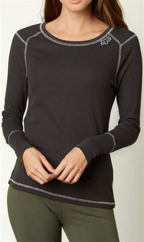 long sleeve thermal shirts for women fox racing womens boundless long sleeve thermal t shirt ebay