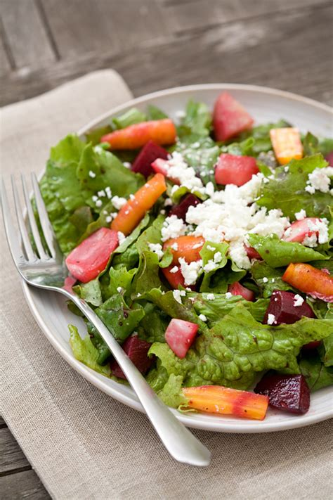 root vegetable salad roasted root vegetable salad with goat cheese and