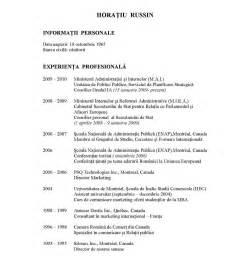 cv template romana curriculum vitae model curriculum vitae romana