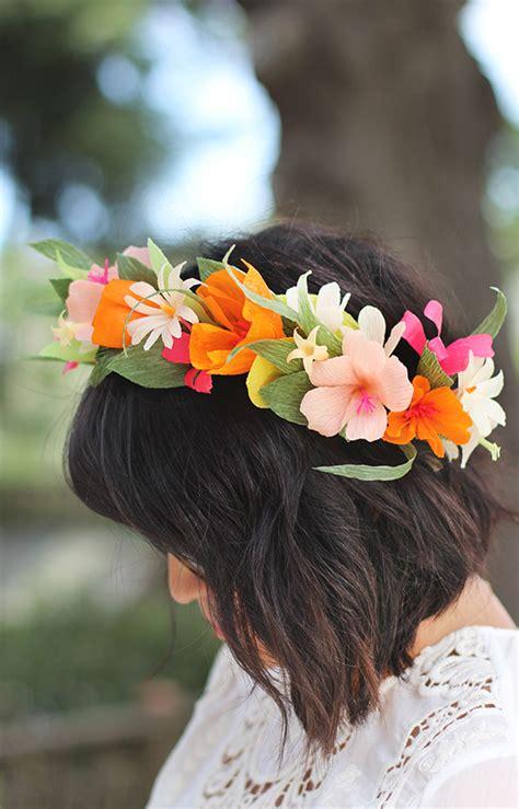 diy paper flower crown tutorial alice and lois20 favorite diy paper flower tutorials