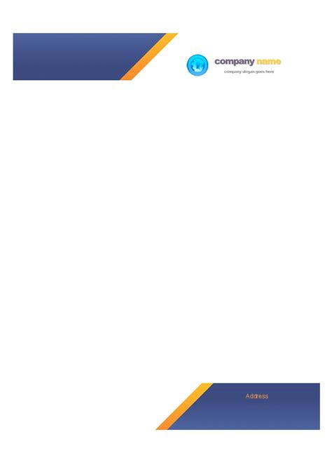 business letterhead template with logo exles of letterhead with logo pertamini co