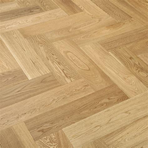 herringbone oak lacquered engineered wood flooring