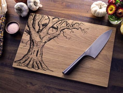 cool cutting board designs this is an engraving but neat idea to woodburn all