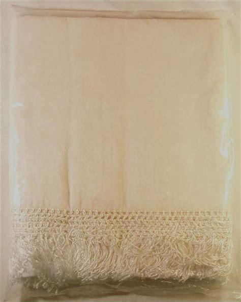 fringe bed skirt ivory bedskirt fringe split corner dustruffle new nip ebay