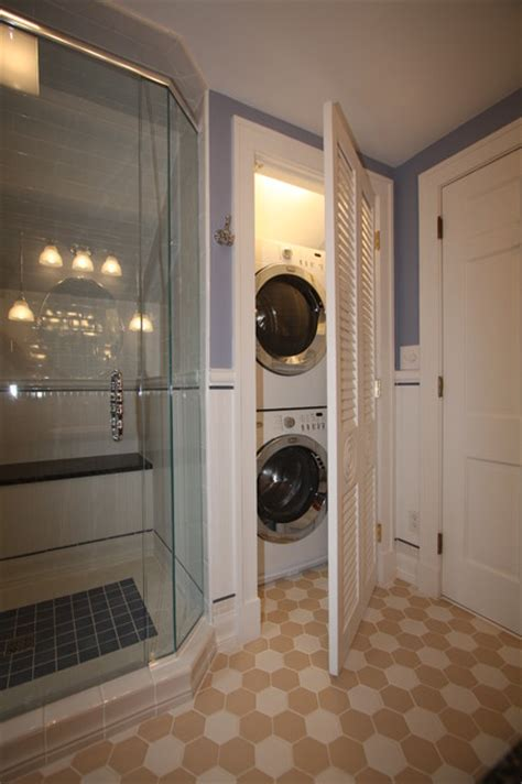 washer dryer traditional bathroom cleveland