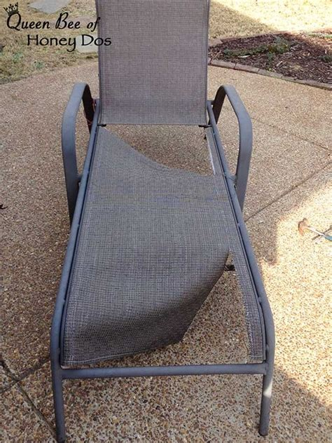 how to repair sling chairs chaises bee of honey dos