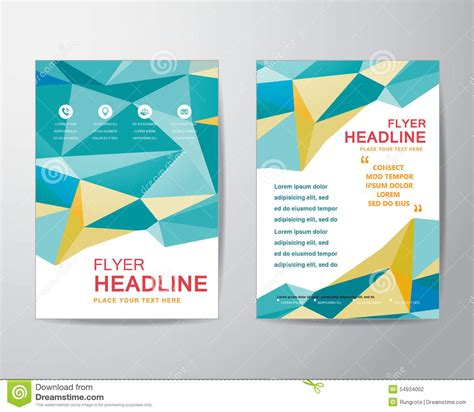 magazine layout vector free abstract polygon design template layout for brochure flyer