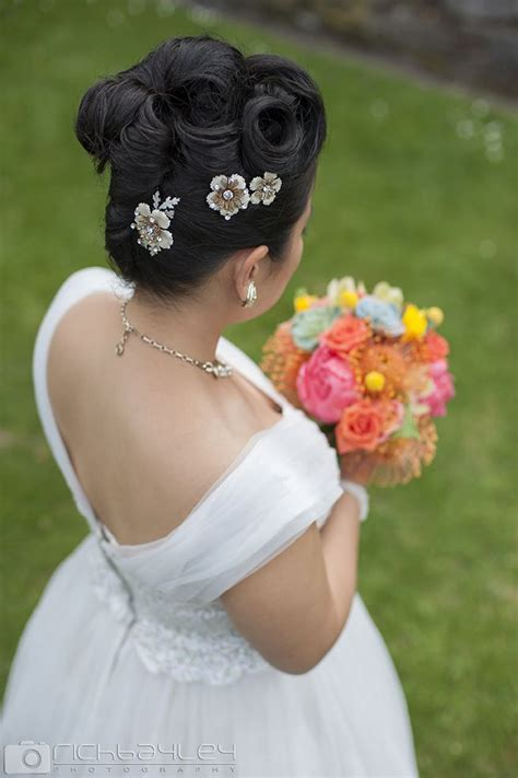 Vintage Wedding Hair Designs by Vintage Wedding Hairstyle With Victory Rolls For A Recent