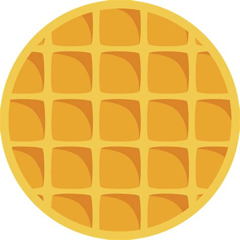 Waffle Clipart circle clipart waffle pencil and in color circle clipart