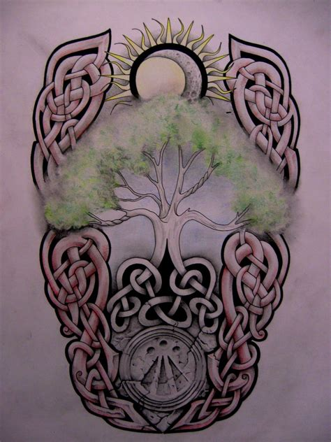 celtic sun tattoo designs 48 celtic tree of tattoos ideas
