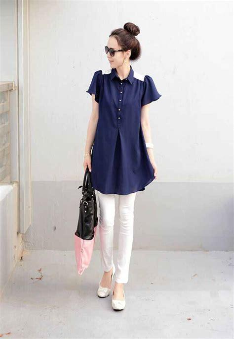 Atasan Menyusui Simple Atm 66 blouse model kemeja korea simple toko baju wanita murah goldendragonshop