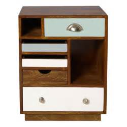 bedside cabinet percy wood bedside cabinet retro trend home trends housetohome co uk