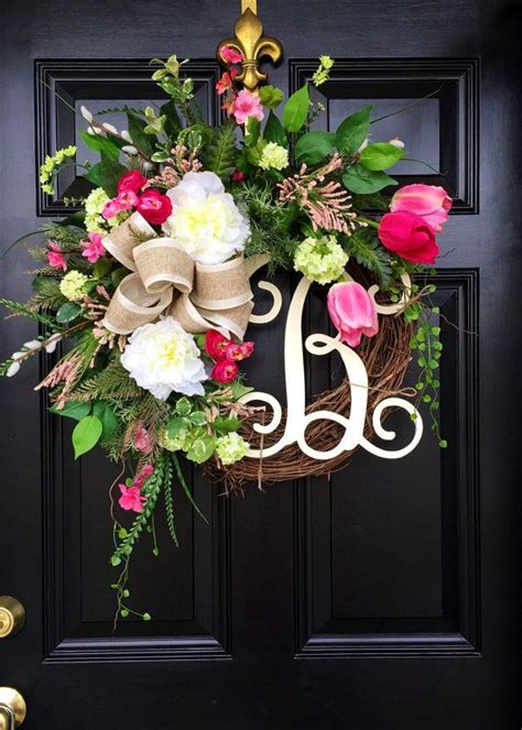 Ideas For Wreaths For The Front Door Wreaths Summer Wreaths Front Door Wreaths By Fleursdelavie Home Ideas