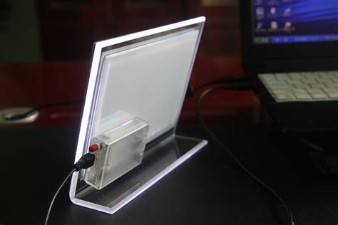photo frame with led light china led backlit tabletop acrylic photo frame light box