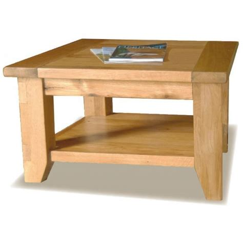 solid oak coffee table square