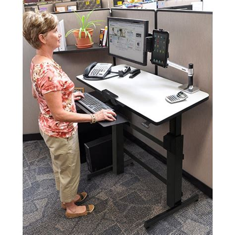 Buy Ergotron Workfit D Sit Stand Desk From Bad Backs Ergotron Workfit D Sit Stand Desk