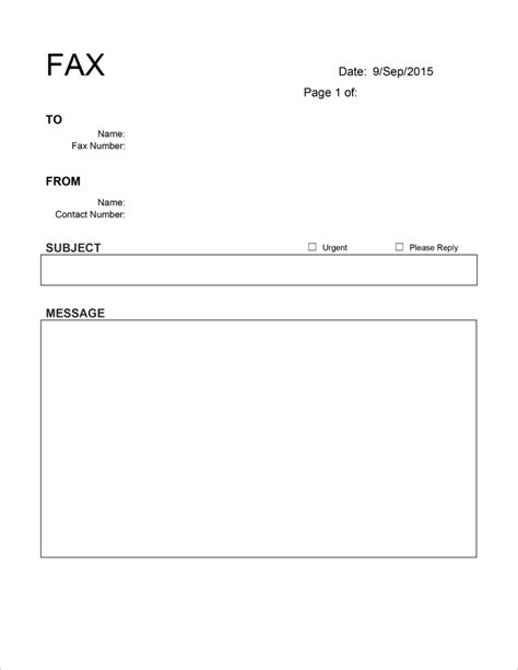 20 Free Fax Cover Templates / Sheets In Microsoft Office DocX