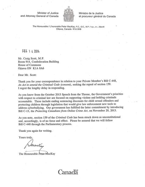Response Letter From Minister Time To End Criminal Code S State Sanctioned Homophobia The Tyee