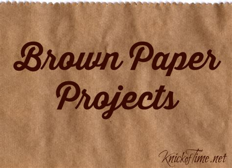 Brown Paper Bag Craft Ideas - paper grocery sack crafts