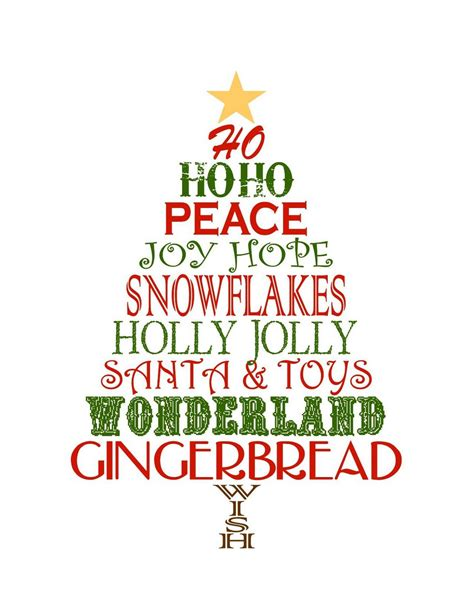 free christmas printables to use as decor