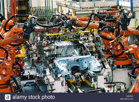 bmw factory robots industry robotics spot welding car production at bmw