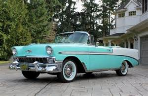 56 chevy bel air convertible cars