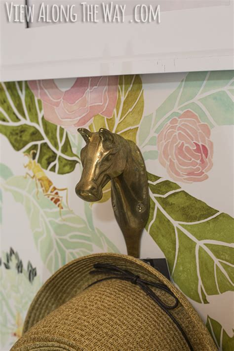 girly horse wallpaper girly glam closet makeover reveal view along the way