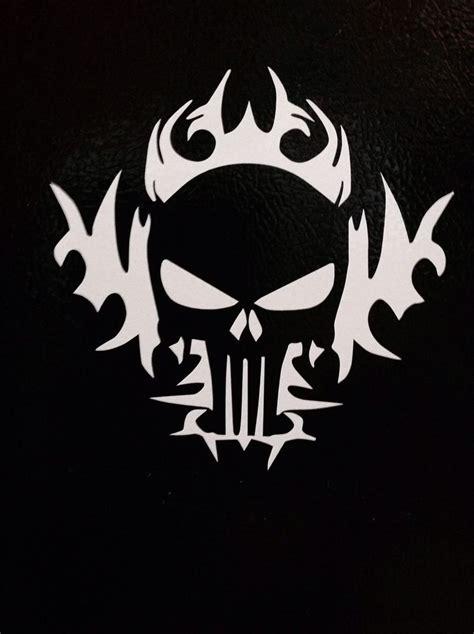 Tribal Sticker Skull by 2 Punisher Tribal American Flag Sniper Skull Die Vinyl