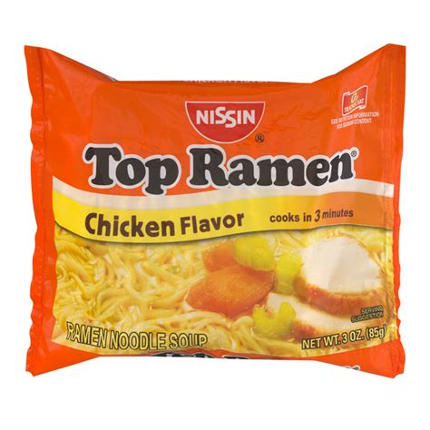 Top Ramen nissin ramen noodles chicken beef and shrimp