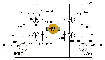 transistor mosfet h bridge the mosfet