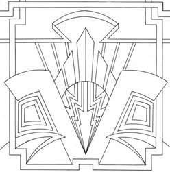 Deco Design Deco Coloring Page Lovely Stained Glass