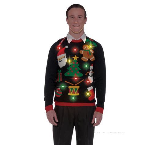 black light up ugly christmas sweater tacky xmas holiday