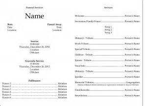 funeral service sheet template funeral template edel alon