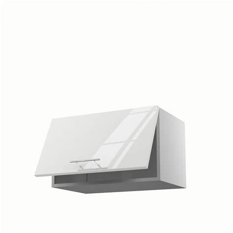 Meuble de cuisine haut blanc 1 porte Rio H.35 x l.60 x P