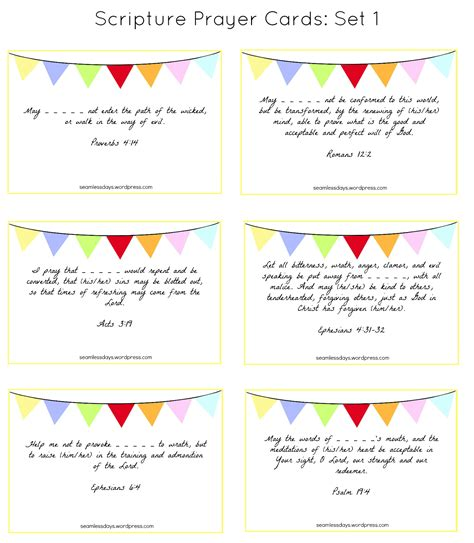 template for scripture cards praying for your children a free printable