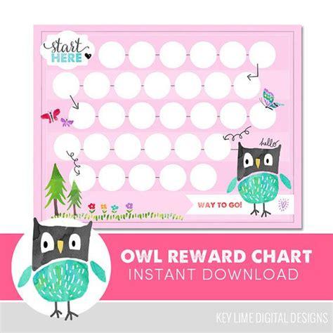 printable owl reward chart 104 best printables for kids images on pinterest
