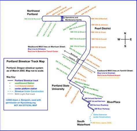 portland light rail map portland max light rail