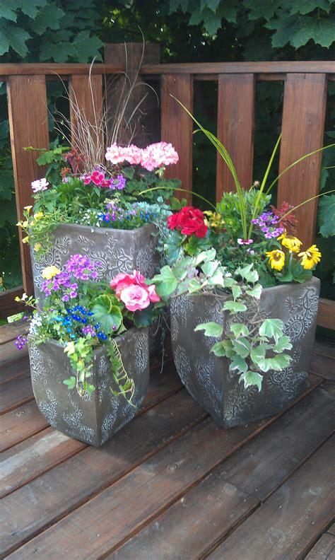 Beautiful Planters pots flowers beautiful planters tussey mountain mulch