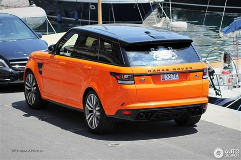 orange range rover land rover range rover sport svr 1 july 2015 autogespot