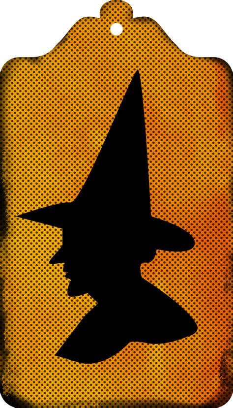 witch silhouette tags clipart call  victorian